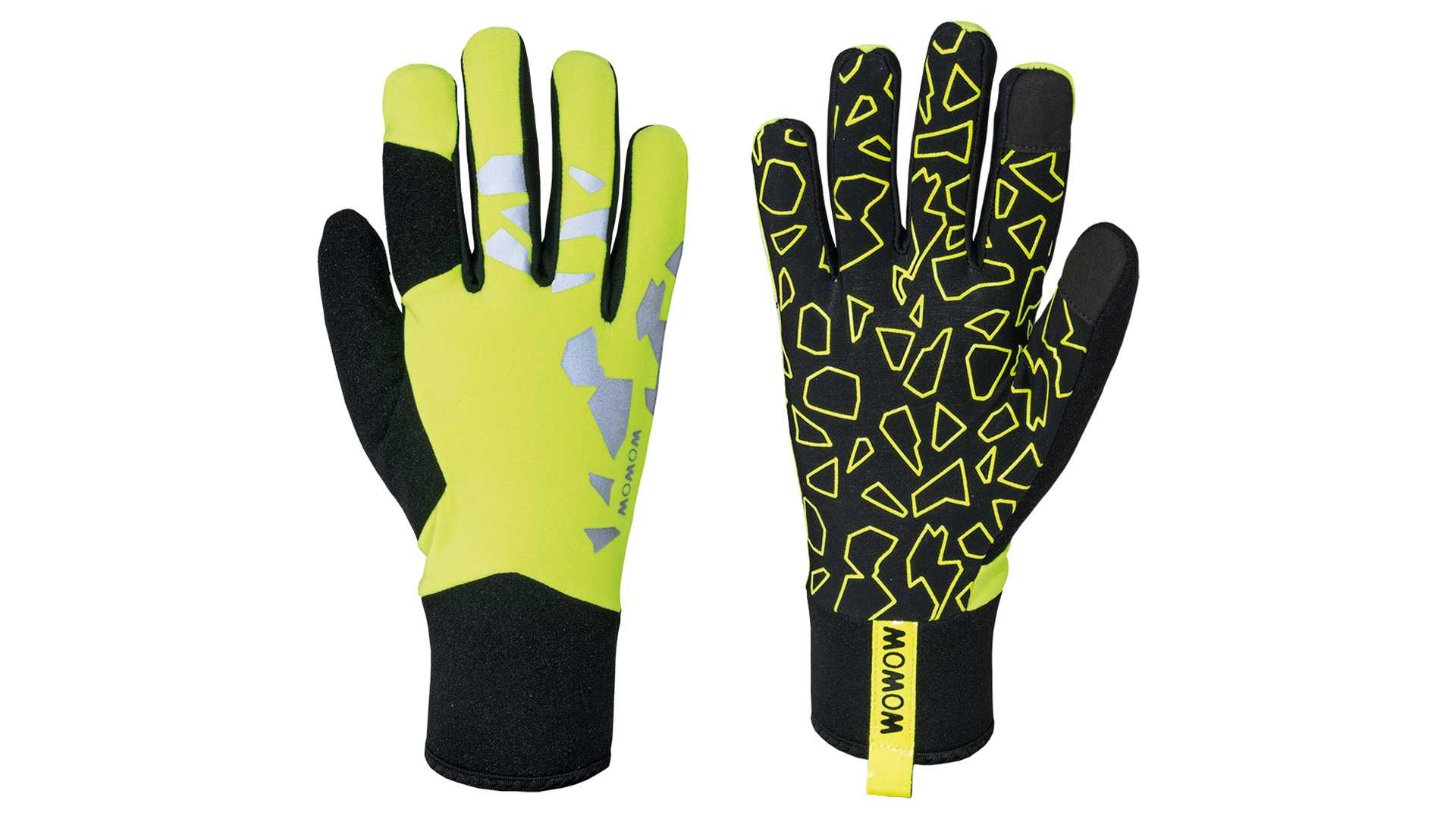 4c3aba26476 Wowow Reflecterende handschoen thunder yellow, size s - 013264